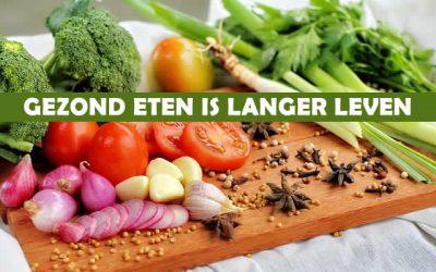 Gezond eten is langer leven